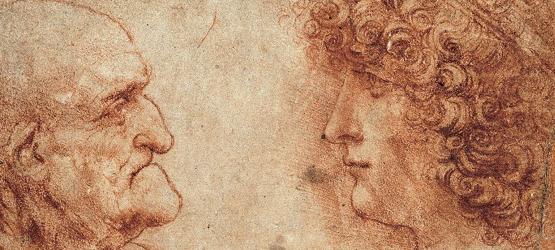 Viejo y adolescente Leonardo