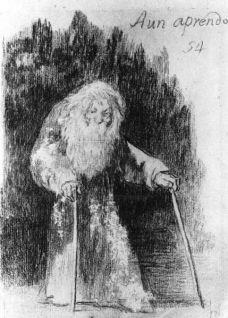 Aún aprendo, de Goya. 1826