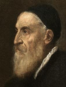 Autorretrato de Tiziano, hacia 1573-76