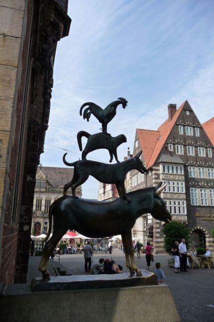 Monumento a los músicos de Bremen