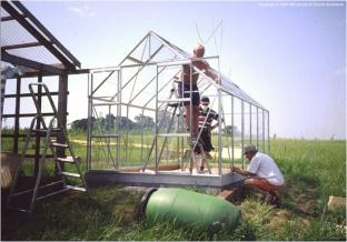 construcción invernadero