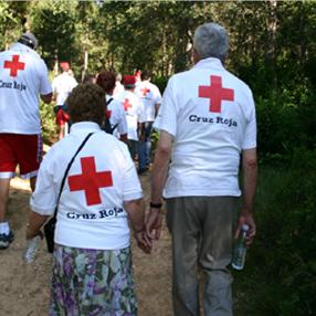 Más del 7% de los voluntarios de la Cruz Roja son mayores. Foto: Cruz Roja