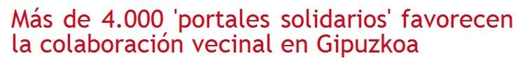 Noticia Portales Solidarios