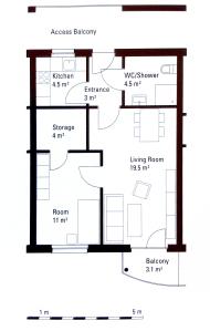 Planta apartamento Beguinenhof Dortmund