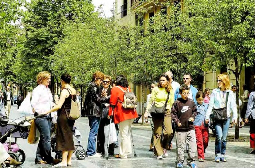 San Sebastián con las personas mayores